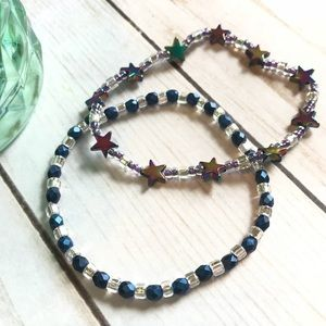 Celestial Stretch Bracelet Set w/ Seed&Czech Beads